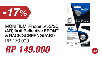 MONIFILM iPhone 5/5S/5C (AR) Anti Reflective FRONT & BACK SCREENGUARD