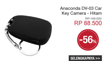 Anaconda DV-03 Car Key Camera - Hitam