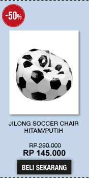 Jilong Soccer Chair - Hitam/Putih