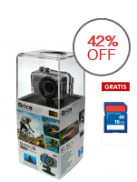 Brica B-Pro 5 Wifi Action Cam - 5 MP - Silver + Micro SD 16 GB