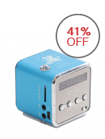 Generic Mini Speaker Portable V26 with Micro SD and Flashdisk Support - Blue