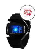 Watch Skmei 0817 Unisex Airplane Shaped - Water Resistant Digital Sports - Hitam