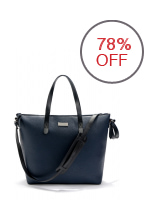 Mango Pebbled Two Way Tote (Blue)