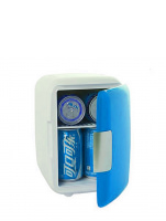 4 Liter Personal Mini Fridge Cooler and Warmer for Car and Home (Blue)