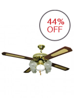 American Star JCF 4B5L Ceiling Fan (Bright Brass)