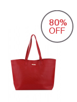 MANGO Braided Shopper Bag (Red)