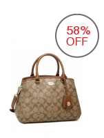Coach Signature Medium Margot Carry-all Bag (Khaki/Brown)