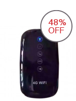 Wireless Pocket 4G Wi-Fi Router (Black)