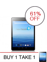 Nextbook NX785QC8G WiFi Tablet 8GB (Black) Buy 1 Take 1