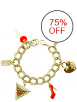 Guess Red Charm Bracelet (Gold)