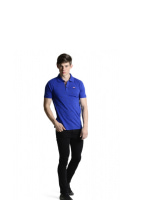 Lee Cooper Men\'s Polo Shirt with Full Print Details (True Blue)