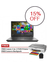 "Lenovo G40-80  2GB Intel Core i3-4030U 14"" Laptop with FREE Canon 3-in-1 Printer (Red)"
