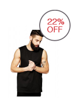 BLKSHP Dropped Armholes Sleeveless T-Shirt in Black