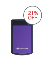 Transcend StoreJet 25H3 1TB External Hard Drive (Purple)