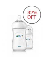 Avent Natural Feeding Bottle 9oz Twin Pack