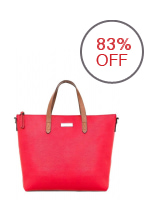 Mango Pebbled Two Way Tote Bag (Red)