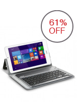 "Acer W1-810-12RL 8"" Atom Z3735G 1GB with Bluetooth Keyboard and FREE Microsoft Office 365 Personal (White)"