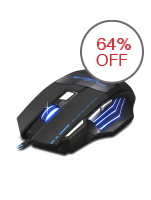 LC Demon Baron LED Optical USB Gaming Mouse A-50 (Black)