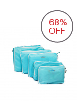 Travel Manila 5-Piece Waterproof Packing Cubes (Blue)