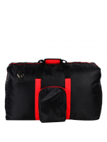 Le Organize Nylon Foldable Vacation Bag (Black/Red)