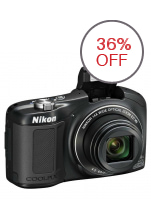 Nikon Coolpix L610 16MP 14x Zoom Digital Camera (Black)