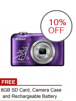 Nikon COOLPIX L31 16.1MP 5x Optical Zoom (Purple) with FREE 8GB SD Card, Camera Case and Rechargeable Battery