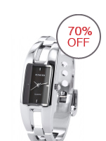 Bluelans Silver Stainless Steel Strap Watch