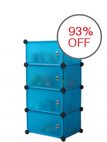 Greatnes D&D  NC-4002 Changeable Creative PP All-purpose Assembly Shoe Cabinet With Easy Folding (Blue)