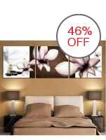 40x40cm Modern 3 Panels Frameless Wall Painting Black And White Lotus Flower Picture