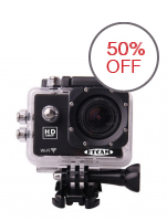"ETCAM ETC7 2"" Screen Underwater HD 1080P 12mp Wifi Sports Action Camera (Black)"