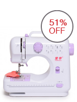 Lil Sew and Sew 8 Stitch Sewing Machine(White/Violet)
