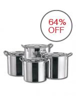 High Quality Stainless Steel Stock Pots 4-Piece Set (Silver)