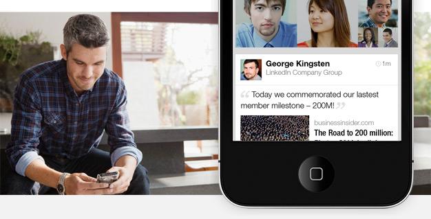 LinkedIn Member with iPhone app