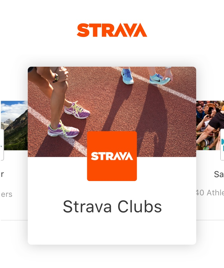 Check out Strava Clubs!