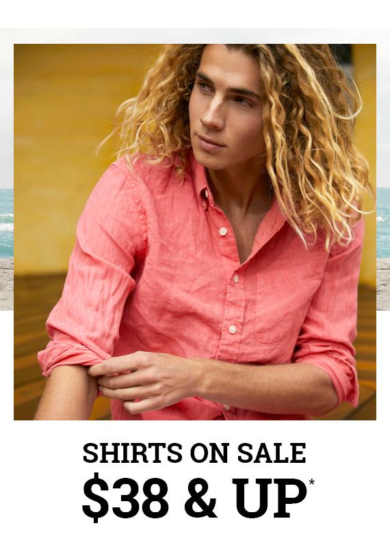 Shirts on Sale $38 & Up*