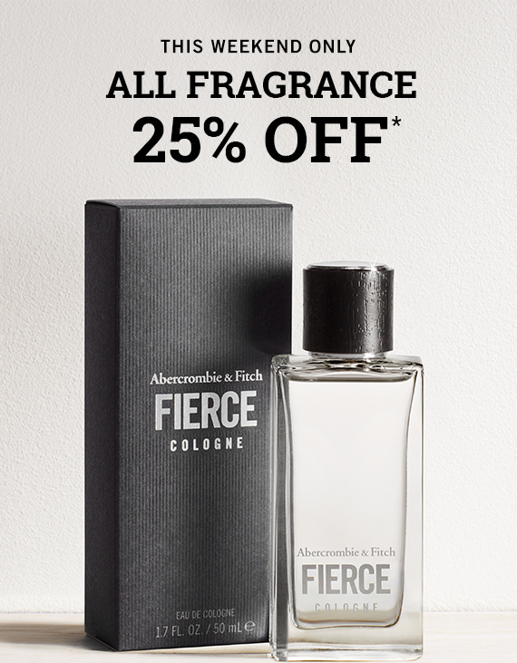 25% OFF ALL FRAGRANCE*