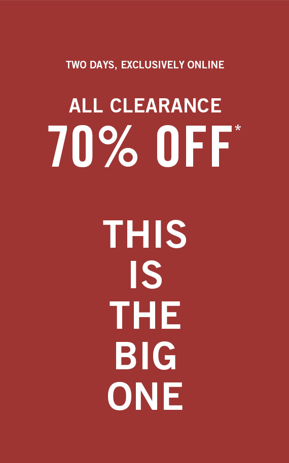 All Clearance 70% Off*