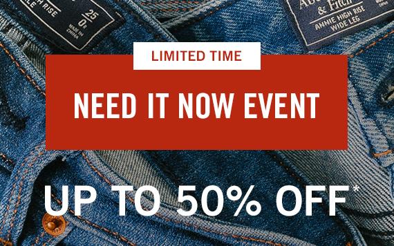 Up to 50% Off Sweatshirts, Tees, Swim, Shorts, and Shirts*