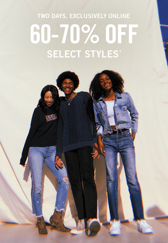 60-70% Off Select Styles*