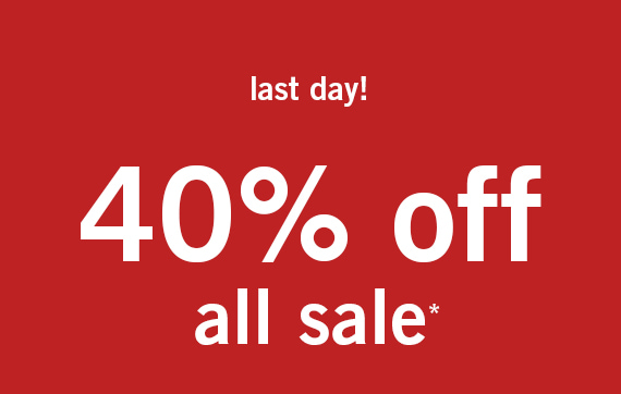 All Sale 40% Off*