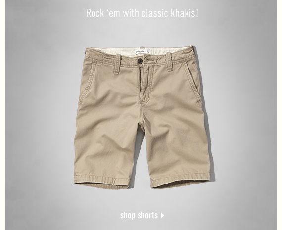 rock 'em with classic khakis - shop shorts