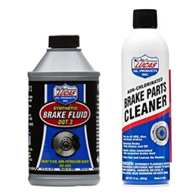 Lucas | DOT 3 Brake Fluid or Brake Parts Cleaner