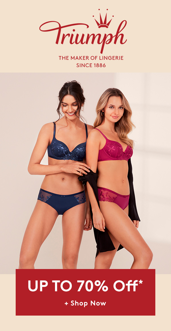 Triumph | The maker of lingerie Since 1886 | Upto 70% off | Shop now