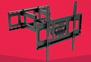 Full Motion Adjustable Wall Mount for 32 - 75 Inch TVs