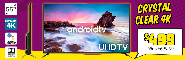 """55 Inch Smart HDR 4K UHD LED TV Android TVâ""""¢"""