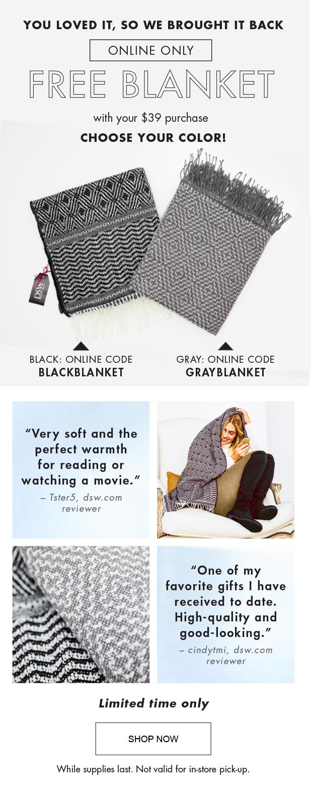 64430f339145 Free Blanket Code Dsw – 2019 Inspirational Throw Blankets