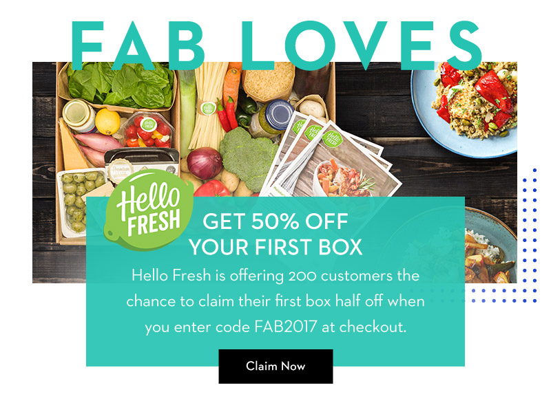 Take 50% off your first box of HelloFresh!