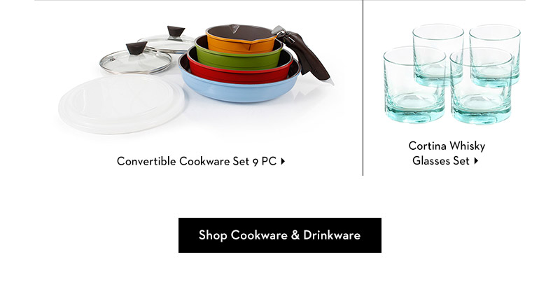 Shop cookware and drinkware essentials