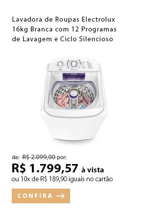 PRODUTO EX1 - Lavadora de Roupas Electrolux