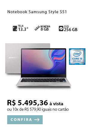 PRODUTO 1 - Notebook Samsung Style S51